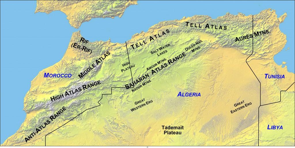 Atlas bjergene i det nordlige Afrika