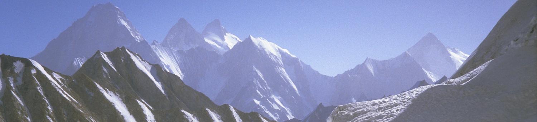 Broad Peak set fra Baltoro Gletsjeren lige før Concordia pladsen nås